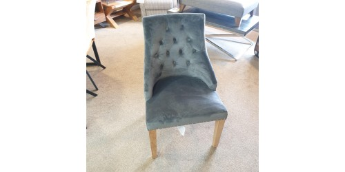 Camberwell Grey Brushed Velvet Chair - CLEARANCE