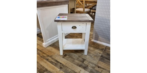 Canterbury Painted White Lamp Table - CLEARANCE