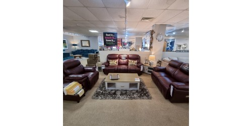 Bacoli 3 Seater, 2 Seater and Arm Chair Leather Power Recliner Set - CLEARANCE