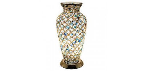 Mosaic Vase Lamp - Blue