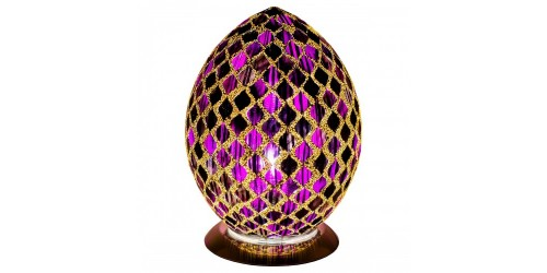 Mosaic Egg Lamp - Purple
