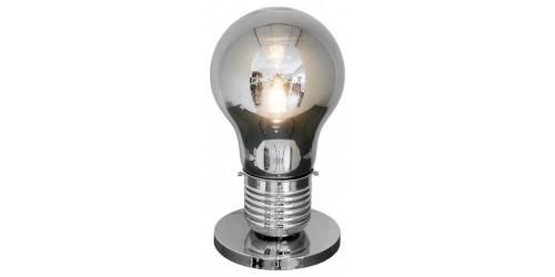 Smoked Bulb Shaped Mini Table Lamp