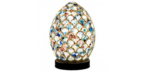 Mosaic Mini Egg Lamp - Blue