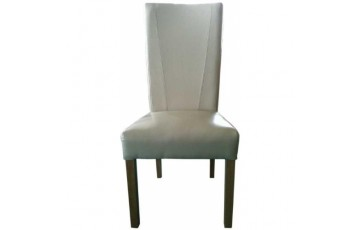 Contempo Leather Dining Chair in Ivory