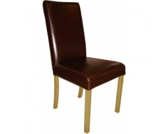 Brown Marianna Leather Dining Chair