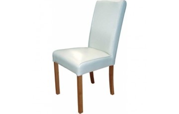 Anna Leather Dining Chair in White