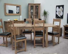 Chicago Oak Extending Dining Set