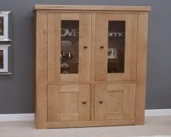 Marseille Two Door Bookcase in Solid Oak