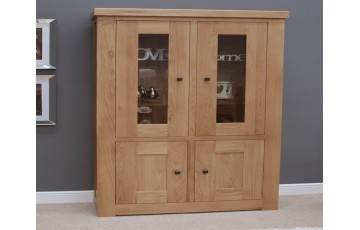 Marseille Two Door Bookcase in Solid Oak