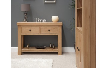 Marseille Console Table in Solid Oak