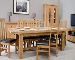 Marseille Grand Extending Dining Table in Solid Oak
