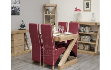 New York Solid Oak Dining Set 4ft x 3ft (with 4 Chairs)