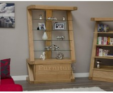 New York Solid Oak Glass Display Cabinet