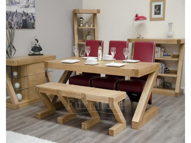 New York Solid Oak Large Bench