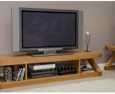 New York Solid Oak Large Plasma TV Unit