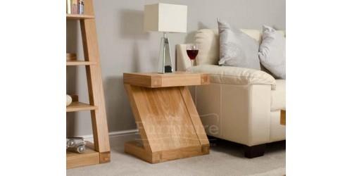New York Solid Oak Lamp Table