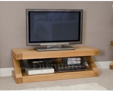 New York Solid Oak Standard Plasma TV Unit