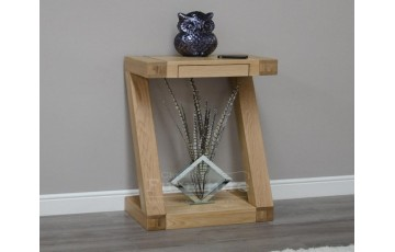New York Solid Oak Small Console Table
