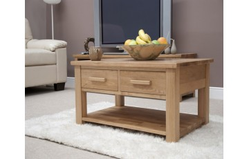 Sherwood Deluxe 3ft x 2ft 2 Drawer Oak Coffee Table