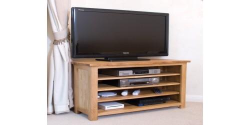 Sherwood Deluxe Corner TV Unit in Oak