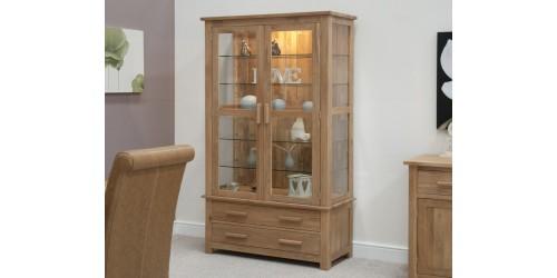 Sherwood Deluxe Glass Display Cabinet in Oak