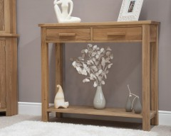 Sherwood Deluxe Hall Console Table in Oak