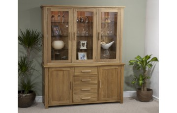 Sherwood Deluxe Sideboard and Dresser Top in Oak