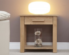 Sherwood Deluxe Lamp Table in Oak