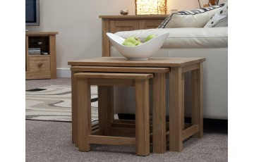 Sherwood Deluxe Nest of Tables in Oak