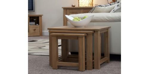 Sherwood Deluxe Nest of Tables in Oak