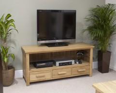 Sherwood Deluxe Plasma TV Unit in Oak