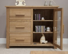 Sherwood Deluxe Small Glazed Chest in Oak