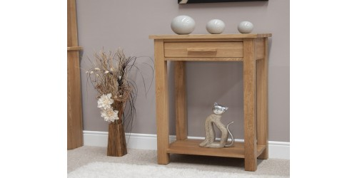 Sherwood Deluxe Small Console Hall Table in Oak