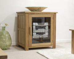 Sherwood Deluxe HI FI Cabinet in Oak