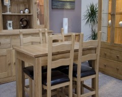 Lake Mead Solid Oak Small Extending Dining Table