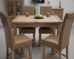 Sherwood Deluxe Extending Dining Table in Oak