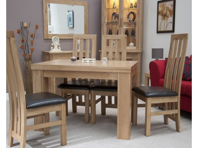 Thick Top Dining Table in Solid Oak 4ft x 2ft6