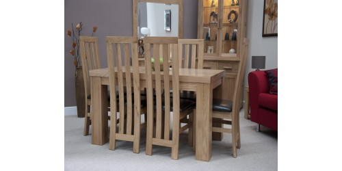 Thick Top Dining Table in Solid Oak 5ft x 3ft