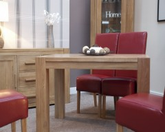 Monaco Dining Table in Solid Oak 80cm x 125cm
