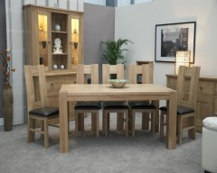 Monaco Dining Set in Solid Oak with 4 Chairs