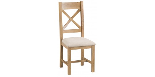 Cranbrook Cross Back Chair Fabric Seat