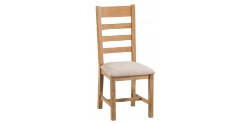 Cranbrook Ladder Back Chair Fabric Seat