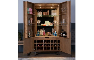 Indigo Wine Display Cabinet