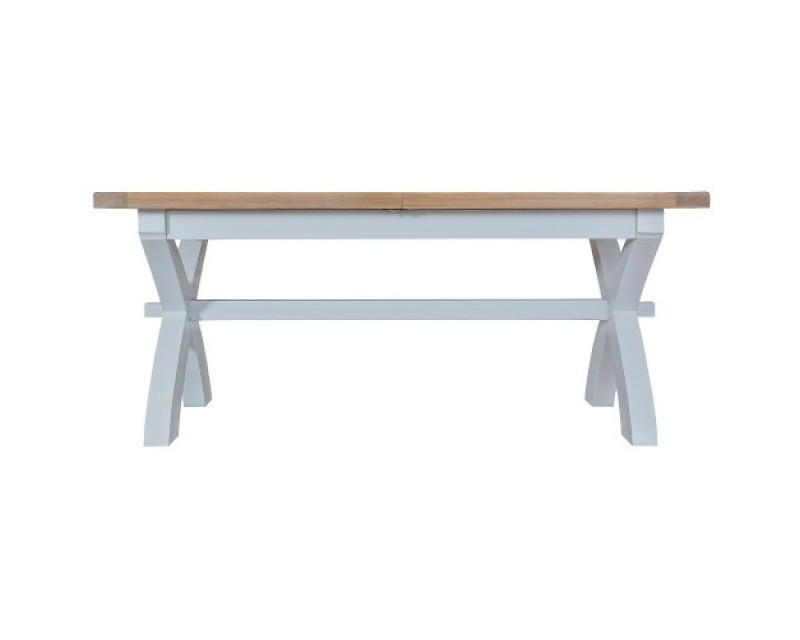 Trieste Painted 1.8m Cross Leg Extending Dining Table