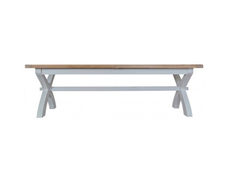 Trieste Painted 2.5m Cross Leg Extending Dining Table