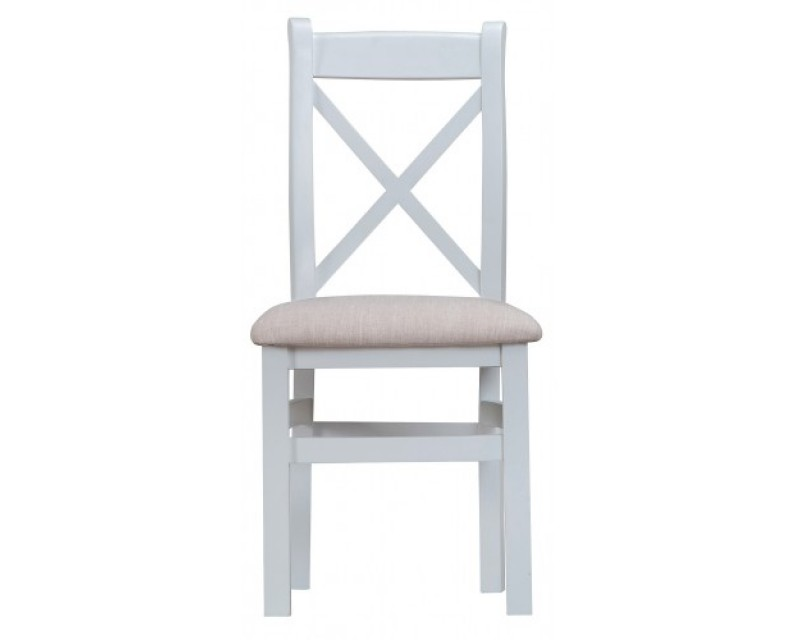 Trieste Painted Cross-Back Dining Chair (Padded Seat)