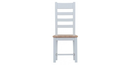 Trieste Painted Ladder-Back Dining Chair with Wooden Seat