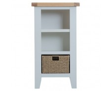 Trieste Painted Small Narrow Bookcase