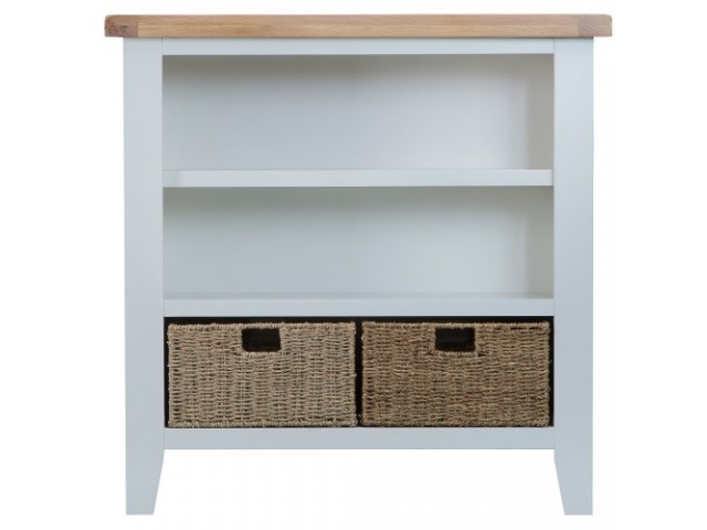 Trieste Painted Small Wide Bookcase