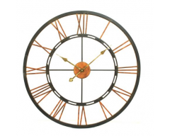 Large Metal Wall Clock with 'Skeletal' design